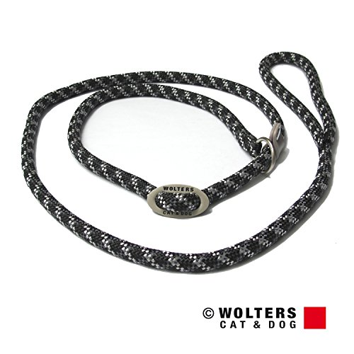 Wolters | Moxonleine Everest reflektierend in Schwarz/Graphit | L 180 cm x B 1,3 cm