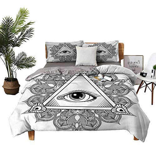 DRAGON VINES Home Textile Series bedding Vintage Tattoo Boho Occult Bed Sheets Apartment Dormitory W104 xL90