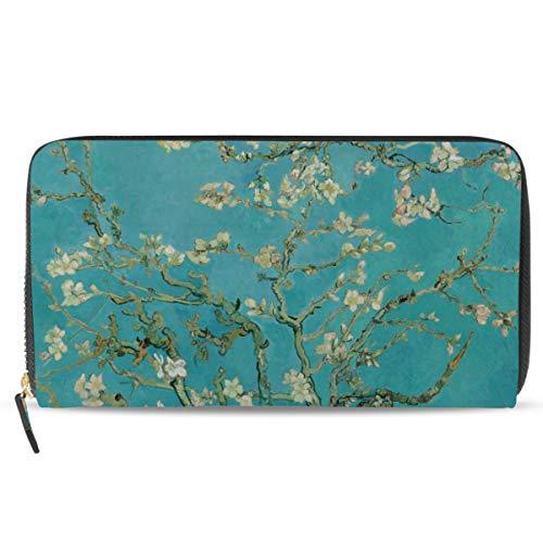 Ahomy Van Gogh - Portamonete da donna, in pelle, con rami di mandorla in fiore
