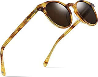 2d85003bab9 HEPIDEM Acetate Polarized Sunglasses Women Round Transparent Sun Glasses  9113