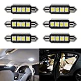 Ralbay 6 x 41mm/42mm C5W LED Can-Bus Senza errori del Festone 4SMD 5050 LED SMD lampadine per luci Interne Auto o Targa a LED Bulbi (6 * 41mm 4SMD)