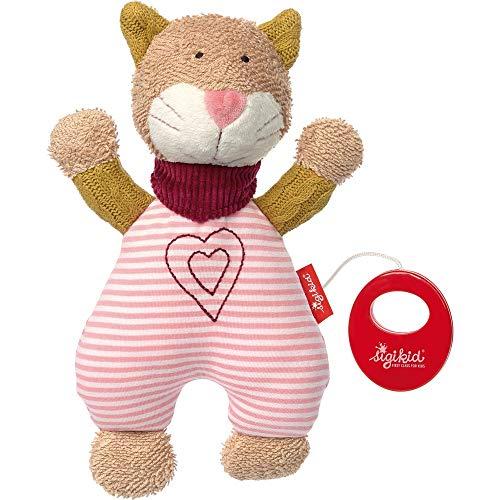 sigikid, Mädchen, Spieluhr, Stofftier Katze, Urban Baby Edition, Rosa/Beige, 39030