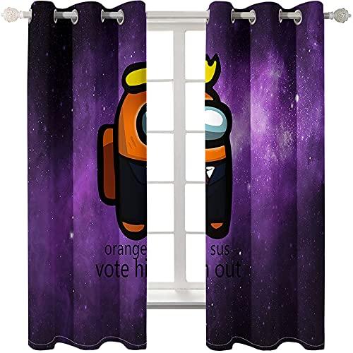 Cortinas De Impresión De Dibujos Animados Simples Perforadora De Sombreado Impermeable Gruesa Fácil De Instalar Cortinas Flotantes Adecuadas para Dormitorio Sala De Estar Estudio