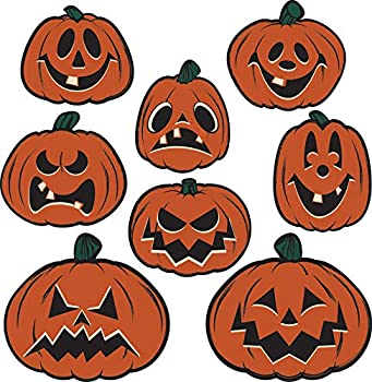 Pumpkin Vintage Halloween Cutouts - 8 Pcs.
