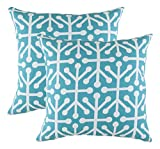 TreeWool Decorative Square Throw Pillowcases Set Octaline Accent 100% Cotton Cushion Cases Pillow...