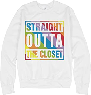 Straight Outta Rainbow: Unisex Gildan Crewneck Sweatshirt