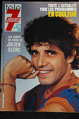 Télé 7 Jours 1221 * 1983 * Julien CLERC Jacqueline MAILLAN
