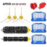 MTKD® Kit Cepillos Repuestos Compatible con iRobot Roomba Serie 600 - Kit de 10...
