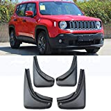 HCDSWSN Guardabarros para coche Para Jeep Renegade BU 2014-2018 4Pcs / Set Car Mudflaps Splash Guards Mud Flap Mudguards Fender