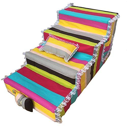 WANGJUNXIU Hond Trappen Kat Stap Hond Trappen Voor Grote Huisdier Honden, 4 Trappen Huisdier Slope Ladders Op Hoge Bedden En Sofa's, Kan worden schoongemaakt