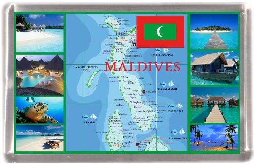 Kühlschrankmagnet Malediven Landkarte Geschenk Tourist Souvenir