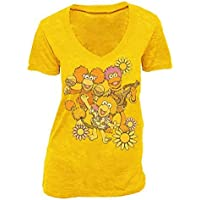 Fraggle Rock flor grupo Golden ámbar para mujer Tee T-Shirt Golden Amber Medium