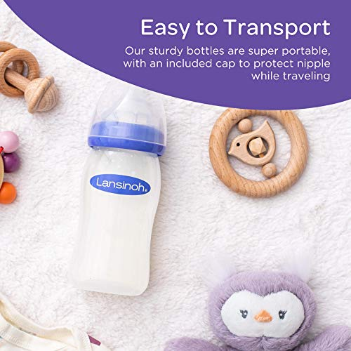 Lansinoh Breastfeeding Bottles for Baby, 5 Ounces, 3 Count