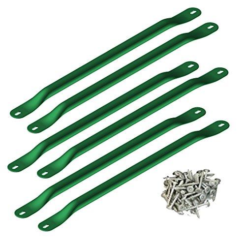 "Swing-N-Slide WS 4564 Metal Monkey Bars with Six 21.5"" Metal Rungs with Hardware, Green"