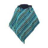 virblatt - Ponchos for Women | 100% Cotton | Mexican Poncho Hooded Poncho Baja Hoodie Women Pancho - Relaxed gn S-M Green