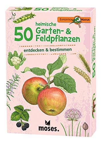 moses. Expedition Natur - 50 heimische Garten- und Feldpflanzen | Bestimmungskarten im Set | Mit spannenden Quizfragen
