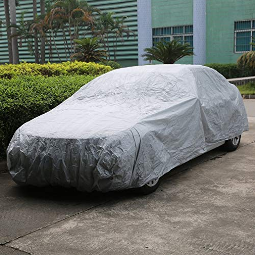 LONGITUDE Single Layer Full Car Cover, Waterproof Rain Scratch Proof Dust Cover,Resistant UV Breathable Outdoor and Indoor Protective Car Cover (M 430x160x120CM)