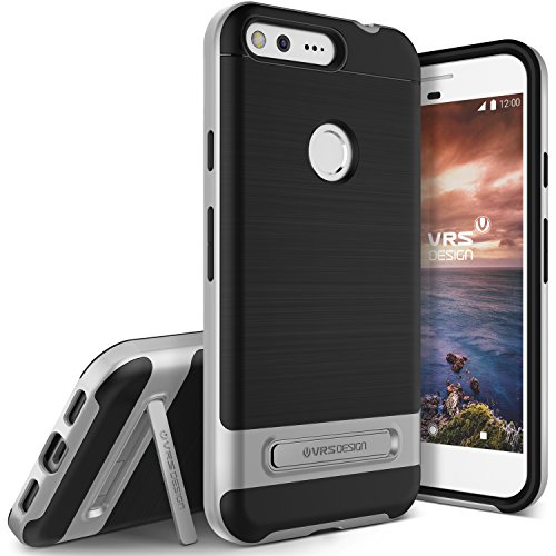 VRS Design High Pro Shield Hülle kompatibel mit Google Pixel XL Handy-Hülle | TPU/Polycarbonat in Silber | Smartphone Zubehör Tasche Case Cover Schale Bumper