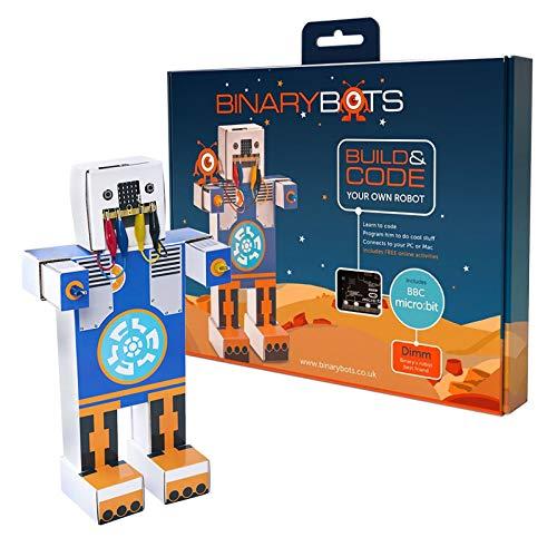 BinaryBots DIMM Robot de Juguete Inteligente - Dimm es un Robot Educativo Que enseña a los niños al código Mientras se divierten con la BBC Microbit