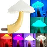 AUSAYE LED Night Light Plug in Lamp Mushroom Night Light 7-Color Changing Magic Mini Pretty Mushroom-Shaped Night Lights for Adults Kids NightLight