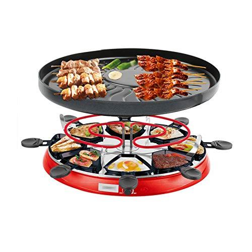 HAZYJT Raclette para 2 6 8 Personas, Raclette Y Parrilla De Mesa...