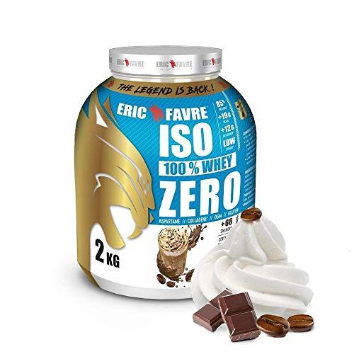 ISO WHEY ZERO 100% Pure Protéine - Pure Whey Gustoso isolato proteico per crescita muscolare - Assimilabile rapidamente - 2 kg - Laboratorio francese Eric Favre (Cappuccino)