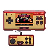 3.0 inch Screen Family Pocket Retro Video Game Console Handheld Game Console Built -in 638 Games Support External Handle for Double Play Support AV Cable Output (Brown)