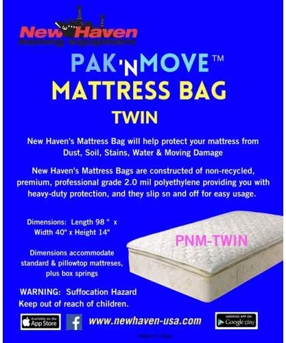 New Haven s PaK N Move Twin Mattress Cover Poly 98 x 40 x 14 2 ML product image