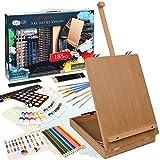 Artina Set de Peinture Vincent 188 pièces avec Chevalet – Coffret de Peinture pour débutants et Artistes INCL. Pastels à l´Huile, Godets d´Aquarelle, Couleurs acryliques, Crayons, pinceaux