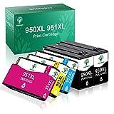 GREENSKY 950 XL 951 XL Cartuchos de Tinta para HP 950XL 951XL Compatible con HP Officejet Pro 8600 8610 8620 8630 8640 8100 8615 8625 8660 251dw 276dw (2 Negro, 1 Cian, 1 Magenta, 1 Amarillo)