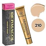 DERMACOL - Fundación de alta cobertura, corrector de maquillaje, SPF 30 (210)