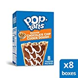 Pop-Tarts, Breakfast Toaster Pastries, Frosted Chocolate Chip Cookie Dough, Proudly Baked in the USA, 64 count (Pack of 8, 13.5 oz Boxes)