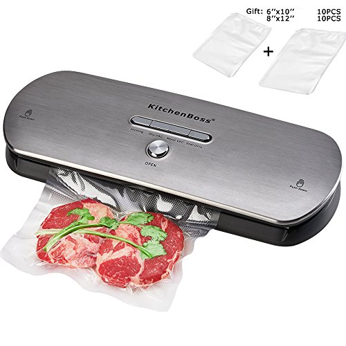 KitchenBoss Vacuum Sealer Machine for Dry & Moist Foods Preservation Automatic Vacuum Sealing...