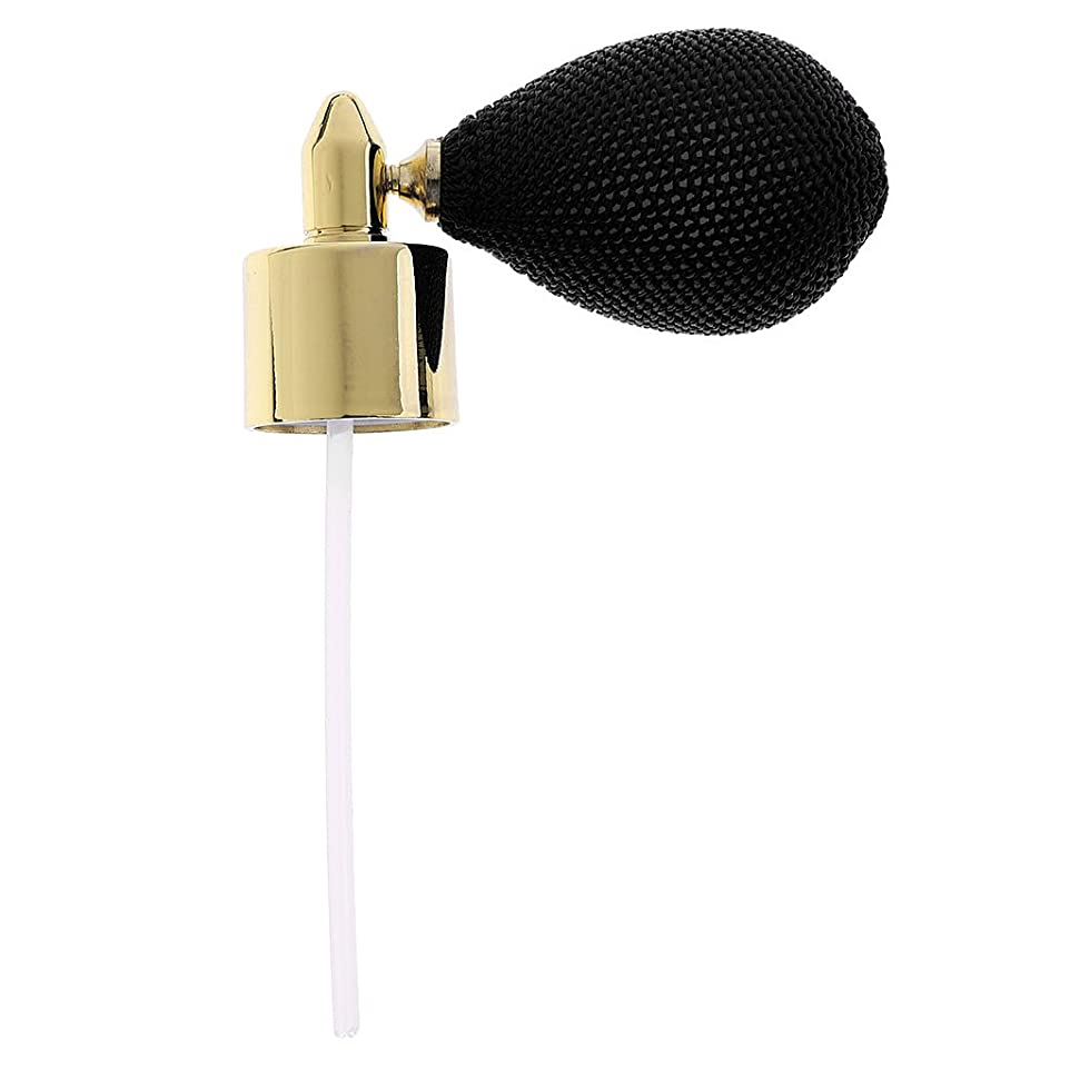 罰増強するマティスFenteer レディース トラベル アクセサリー メイクアップ 香水ボトル ガラス スプレーポンプ アトマイザー 18mm 全7色  - 黒