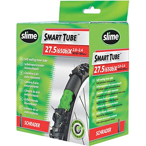 Slime 30077 Chambre à Air de Vélo avec Boue de Scellant de Crevaison, Auto-scellante, Prévention et Réparation, Valve Américaine, 50/60-584 mm (27,5 (650b) x 2,0-2,4)
