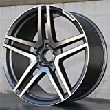 NEW 20 inch STAG S65 STYLE AMG GUNMETAL Rim Wheel compatible with Mercedes Benz CLS SET OF 4 (20 x 8.5/20 x 9.5-5x112-66.6)