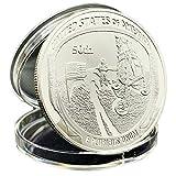2019 US 50th Anniversary Commemorative CoinApollo 11 Moon Landing Silver Commemorative Coin Gift (Sliver, Diameter 40mm)