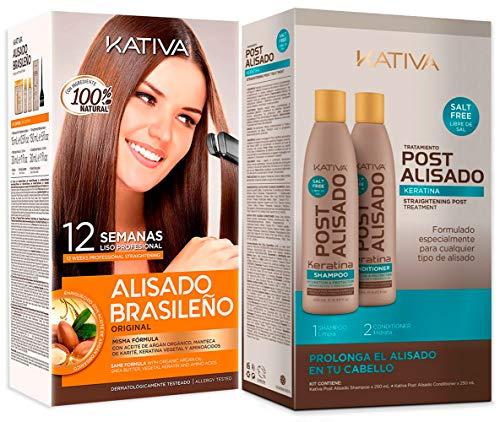 Kativa Pack Alisado Brasileño de Keratina + Post Alisado de