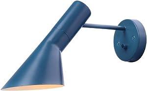 BiuBiuji Lámpara De Pared Originalidad Aj Led Lámpara De Pared Sala De Estar Hall De Entrada Iluminación Del Hogar E14 Lámpara De Pared, Azul