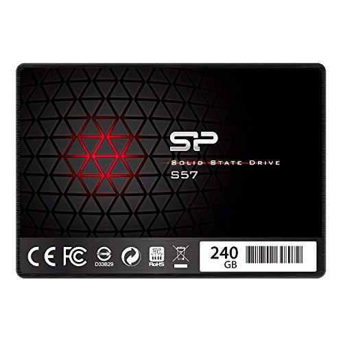『シリコンパワー SSD 240GB TLC採用 Marvellコントローラー 2.5インチ 7mm SATA3 6Gb/s 3年保証 S57シリーズ SP240GBSS3S57A25』の1枚目の画像