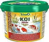 Tetra Pond Koi Sticks 10 L - Alimento completo para todos los peces Koi, Peces sanos, colores intensos y agua transparente