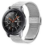 Fullmosa Quick Release Watch Band 18mm,Stainless Steel watch band Bracelet Compatible Huawei Watch,Compatible Asus Zenwatch 2/LG Watch Style/Withings Activité/Steel HR 36mm, Silver