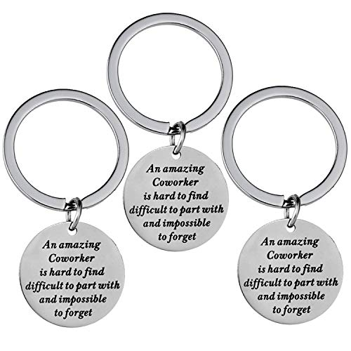 Coworker Leaving Gifts for Colleague Farewell Gifts for Friends Boss Going Away Thank You Keychain for Coworkers Office Gifts (3PCs Style an Amazing Coworker)