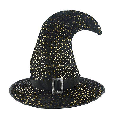 Tetera para Adultos, Sombrero Luminoso, Disfraz de Bruja, Disfraz de Halloween, Sombrero para Cosplay, Fiesta, Accesorio Decorativo, Color Negro, pequeño
