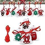 Herefun Bolsa de Regalo Navidad, Navidad Vacaciones Calendario de Adviento, Calendario Nav...