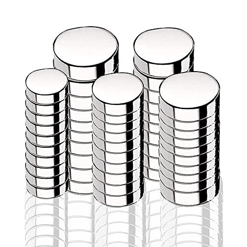 Sunshine smile 50 Stück Neodym Magnete,Rund Magnets,Supermagnete aus Edelstahl,Mini-Multifunktions Magnete,Runde Kleine Magnets,Permanent Magneten,Magnettafel Magnete Set