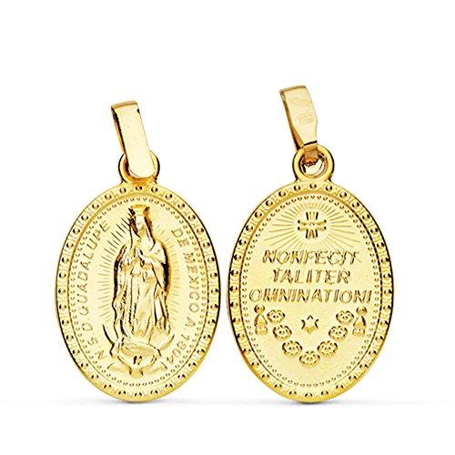 Medalla Escapulario Virgen Guadalupe México 23 mm