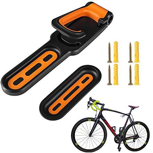 Soporte de Pared para Bicicleta, Percha de Bicicleta, Gancho pra Colgar Bicicleta Pared, ABS Plegable Ajustable Suspensión de Pared para Bicicleta Vertical para Exhibición Bicicletas