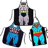 Klick&GO Grembiule da Cucina Divertente e Originale, Motivo Supereroe: Batman, Superman, Spiderman, Flash, Capitan America