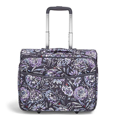 Vera Bradley Softside Rolling Suitcase Luggage, Lavender Bouquet, 22' Carry On